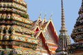 Architectures of the grand palace bangkok details roof at temple and Stock Photos