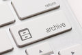 Archive enter key button on white background Royalty Free Stock Images