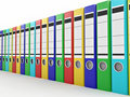 Archive. Many folders on white isolated background Royalty Free Stock Photo