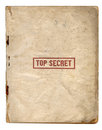 Archivi top-secret Fotografia Stock