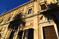 Archivo general de indias in seville spain the front face of the building of archive of housed the ancient merchants Royalty Free Stock Image