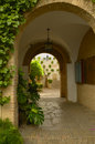 Archs in Cordoba patio Stock Photo