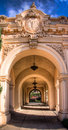 Archway in balboa park Royalty Free Stock Photo