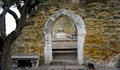 Archway in castle st. Jorge horizontal Royalty Free Stock Photo