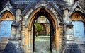 Archway into courtyard, Holyrood Church, Southampton, England Royalty Free Stock Photo