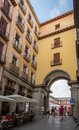 Archway entrance to plaza mayor of madrid spain september the central square in on september Royalty Free Stock Photo