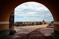 Archway at Fort in Old San Juan Puerto Rico Royalty Free Stock Photo