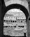 Archway Inside Colosseum Royalty Free Stock Photography