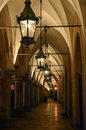 Archway in krakow on the mainsquare of Royalty Free Stock Images