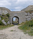 Archway in Portland Stone Royalty Free Stock Photo