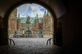 Archway to Frederiksborg castle, the largest Renaissance residen Royalty Free Stock Photo