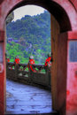 Archway at Wudang Shan Temple Royalty Free Stock Image