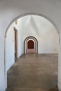 Archways and doors in castillo san cristobal juan puerto rico Royalty Free Stock Photo
