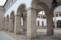 Archways in evora portugal architectural stone alentejo Stock Images