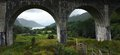 Archways of the Glenfinnan Viaduct Royalty Free Stock Images