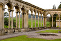 Archways of a mansion uk ruined Royalty Free Stock Images