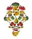 Arcimboldo's  style fruit and vegetable mask Royalty Free Stock Images