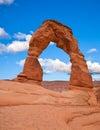 Arco delicado. Parque nacional de los arcos Fotos de archivo libres de regalías
