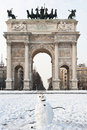 Arco della Pace in Milan Royalty Free Stock Photography