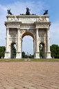 Arco della pace in milan beautiful view on the Stock Image