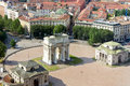 Arco della pace in milan beautiful view on the Stock Photos