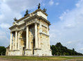 Arco della pace in milan beautiful view on the Royalty Free Stock Photo