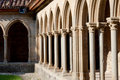 Arcs on st hilaire abbey in aude france Stock Photo
