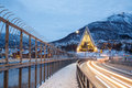 Arctic Cathedral Tromso Norway Stock Images