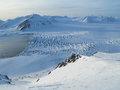 Arctic glaciers landscape and mountains Stock Images