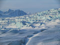 Arctic glaciers landscape and mountains Royalty Free Stock Photography