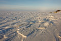 Arctic ice of the arctic ocean off chukotka coast Royalty Free Stock Image