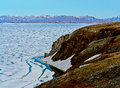Arctic ice of the arctic ocean off coast chukotka Royalty Free Stock Images