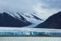 Arctic landscape with glacier in Spitsbergen Stock Photos