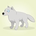 Arctic wolf vector illustration of cartoon Royalty Free Stock Image