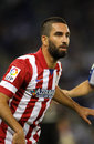 Arda turan of atletico de madrid in action during a spanish league match against rcd espanyol at the estadi cornella on october in Stock Images