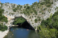 Ardeche, Natural Bridge Royalty Free Stock Photo