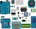 Arduino electronic elements Royalty Free Stock Photo