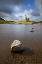 Ardvreck castle sutherland scotland on the shores of loch assynt highlands of is a ruined tower house built in by the macleod clan Stock Photos