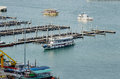 Area boat docks in the bay of pattaya Royalty Free Stock Photo