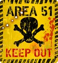 Area fifty one, area 51 sign. Grungy warning sign, vector illustration Royalty Free Stock Photo