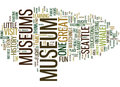 Area Museums Educate And Entertain Word Cloud Concept Royalty Free Stock Photo