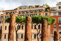 Area sacra ruins rome di largo argentina sacred holy italy Stock Photo