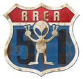 Area 51 Tin Higway Sign