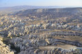 Areal cappadocia turkey from above with it s many mesas and valleys Stock Images