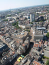 Areal of the city of Utrecht in the Netherlands Royalty Free Stock Photo