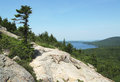 Areal view at acadia national park maine from the south bubble mountain usa Stock Photos