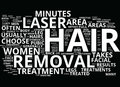 Areas Of The Body That Can Be Treated With Laser Hair Removal Word Cloud Concept Royalty Free Stock Photo