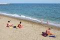 Arena de mar de la playa Fotografía de archivo