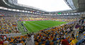 Arena lviv stadium ukraine june tribunes of during uefa euro game between germany and portugal on june in ukraine Royalty Free Stock Photography