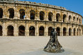 Arena of nîmes roman amphitheatre in france it is now used as a bullring and concert venue ancient structure built as an Stock Photography